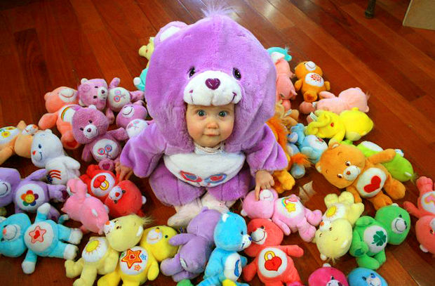Diy carebear baby costume