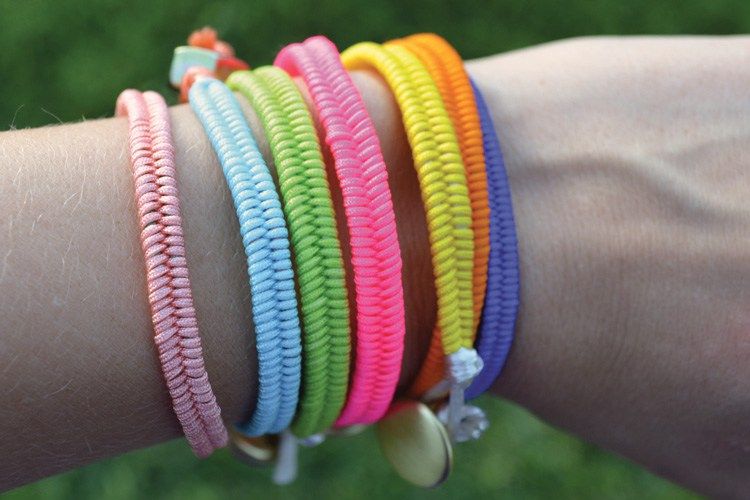 Diy fishtail bracelet stack