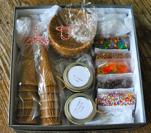 Diy ice cream sundae kit