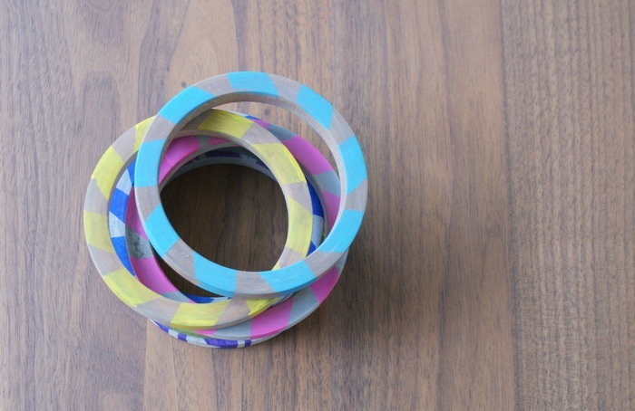 Diy painted tribal bracelets