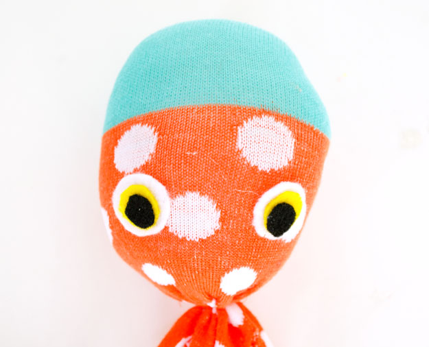 Diy sock octopus plush decor
