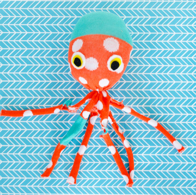 Diy sock octopus plush for kids