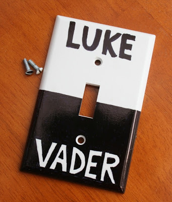 Diy star wars light switch cover