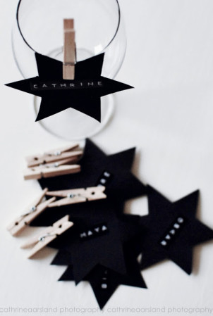Diy star wine name tags