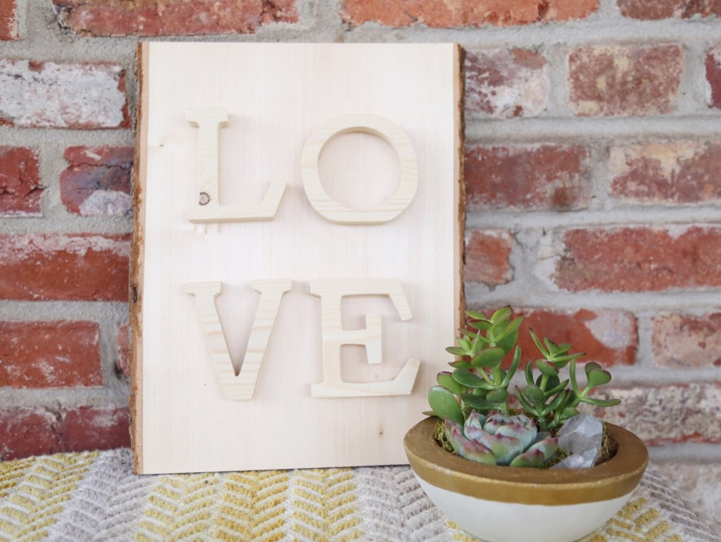 DIY Wooden LOVE Sign project