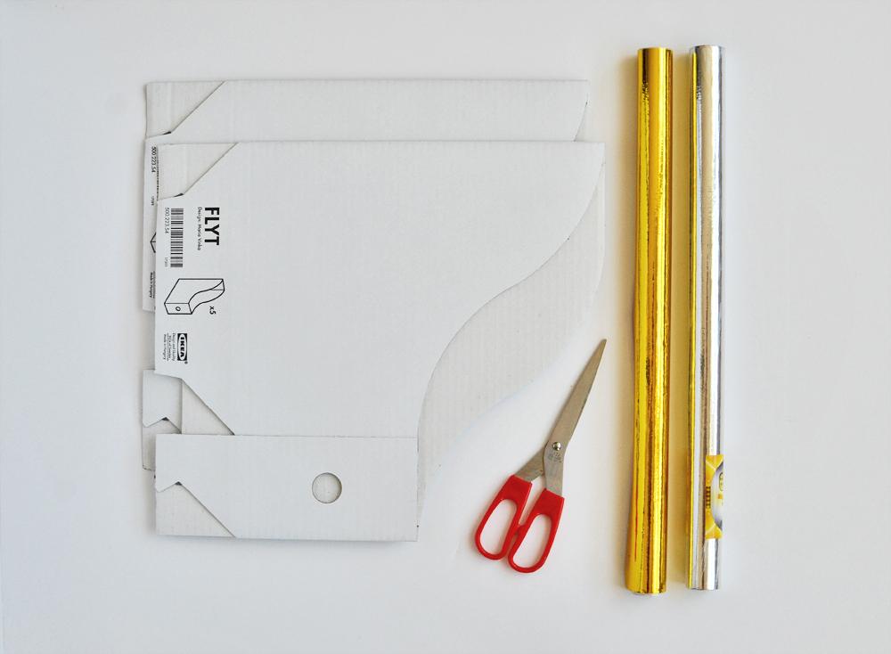 Diy metallic magazine files materials