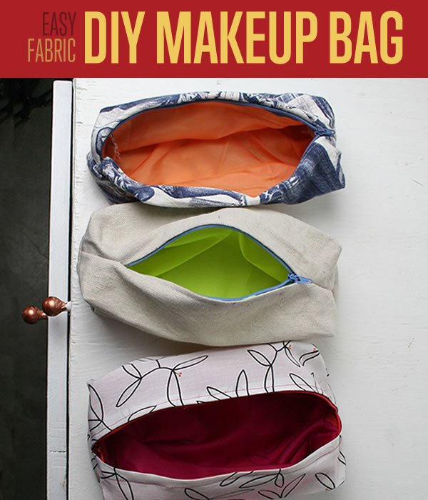 Diy sewing project makeup bag