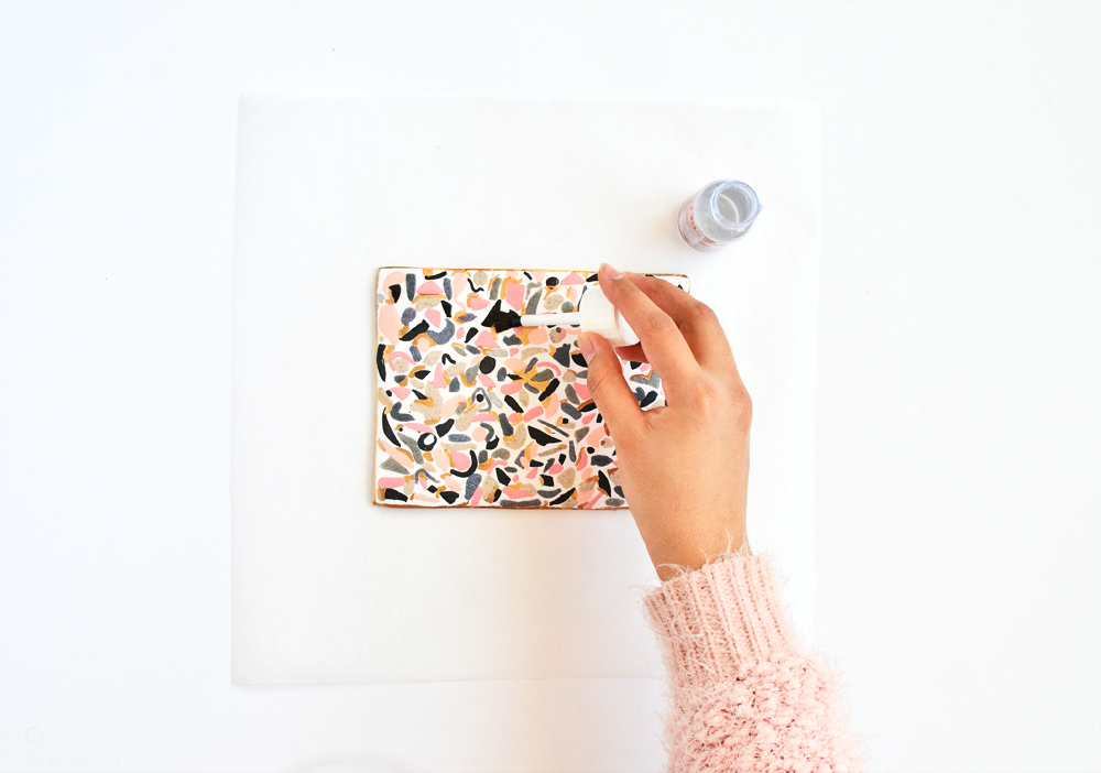 Make terrazzo tile from clay |DIYs.com