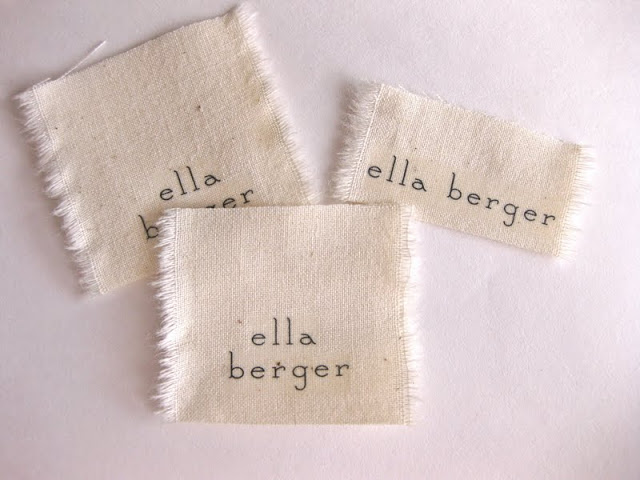 Diy fabric name tags