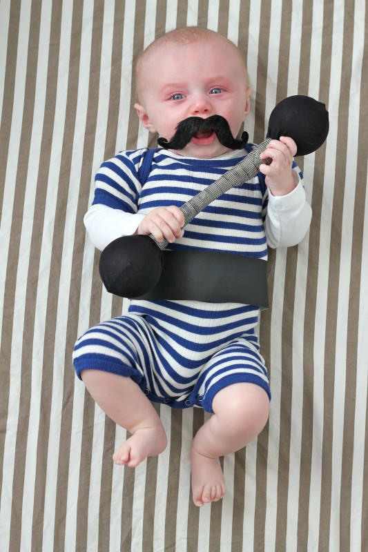 Diy strongman baby costume