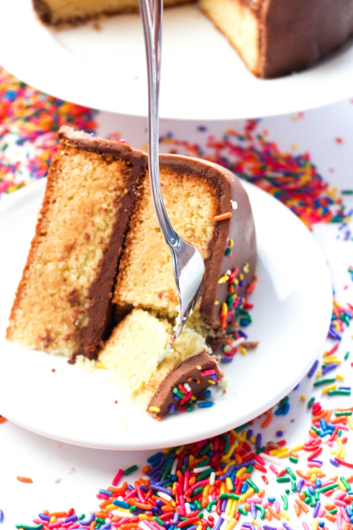 Delicious fondant birthday cake