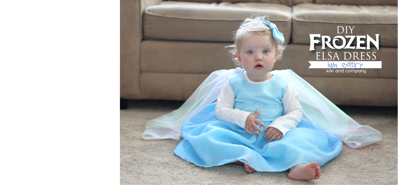 Diy frozen elsa dress baby edition perfect for your littlest princessso adorable