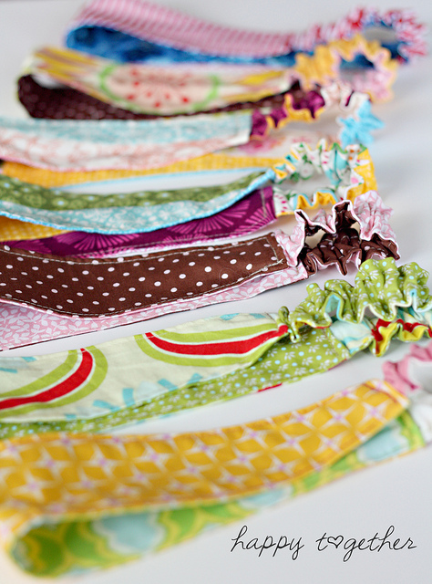 Double sided fabric headband diy
