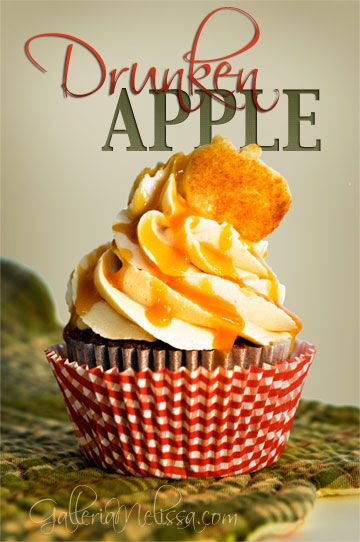 Druken apple cupcakes