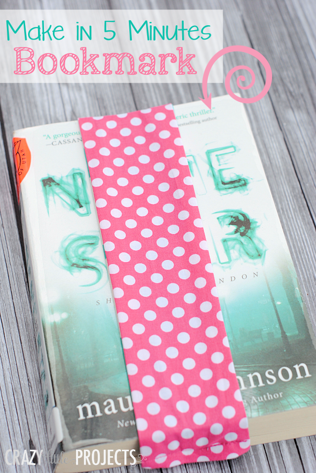 Easy sew bookmark