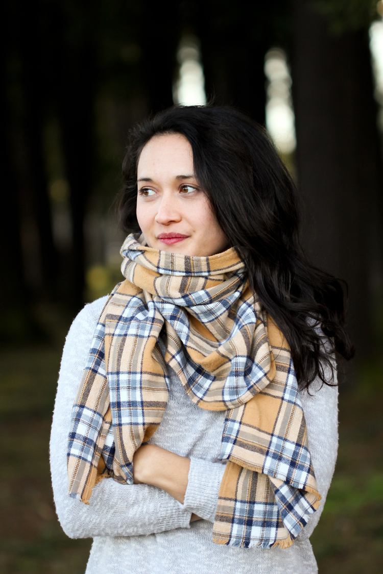 Flannel scarf diy