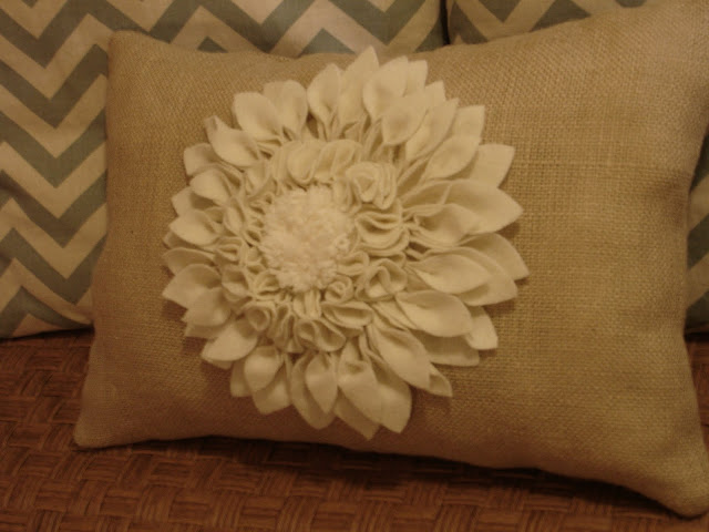Flower petal pillow