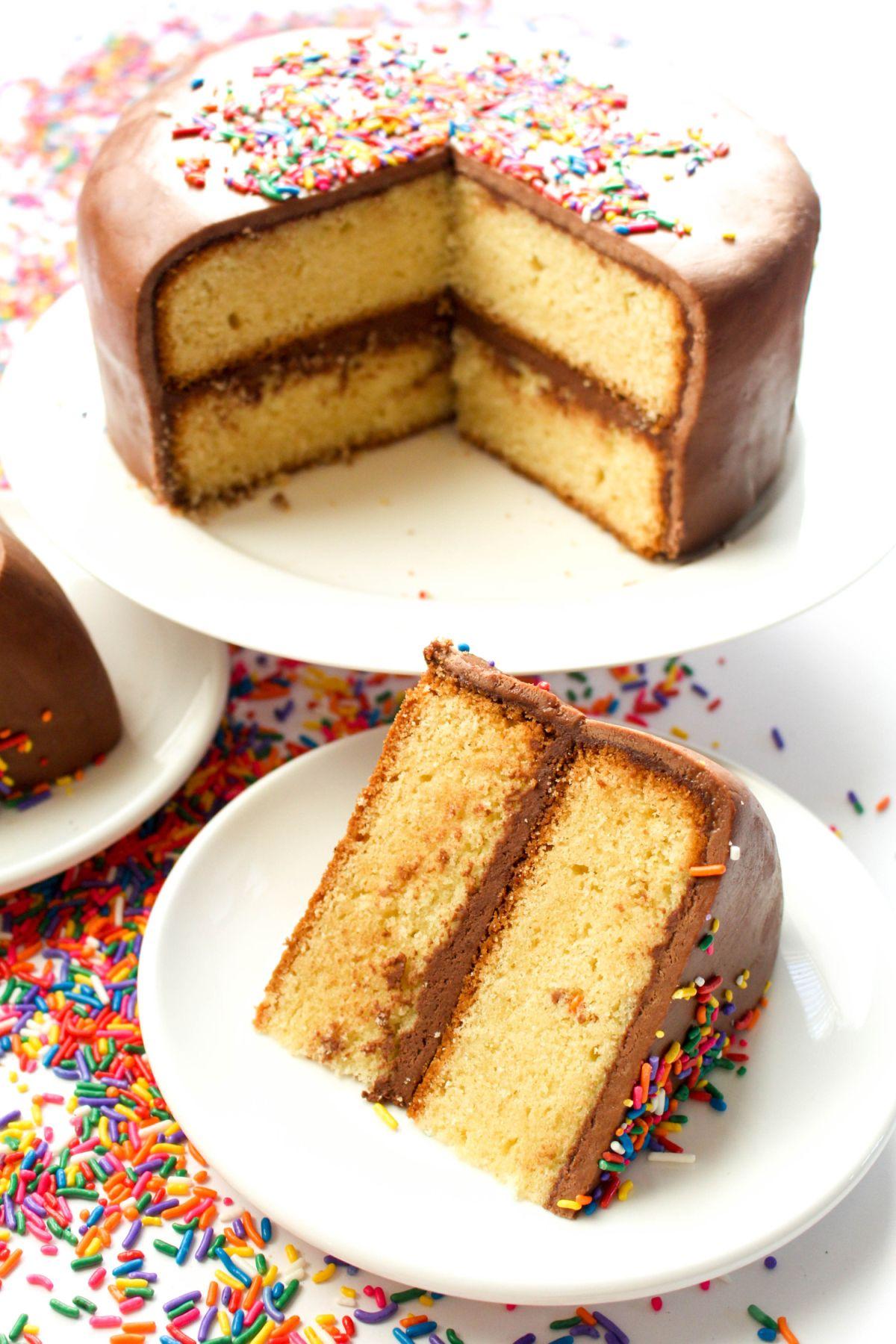 Fondant birthday cake slice