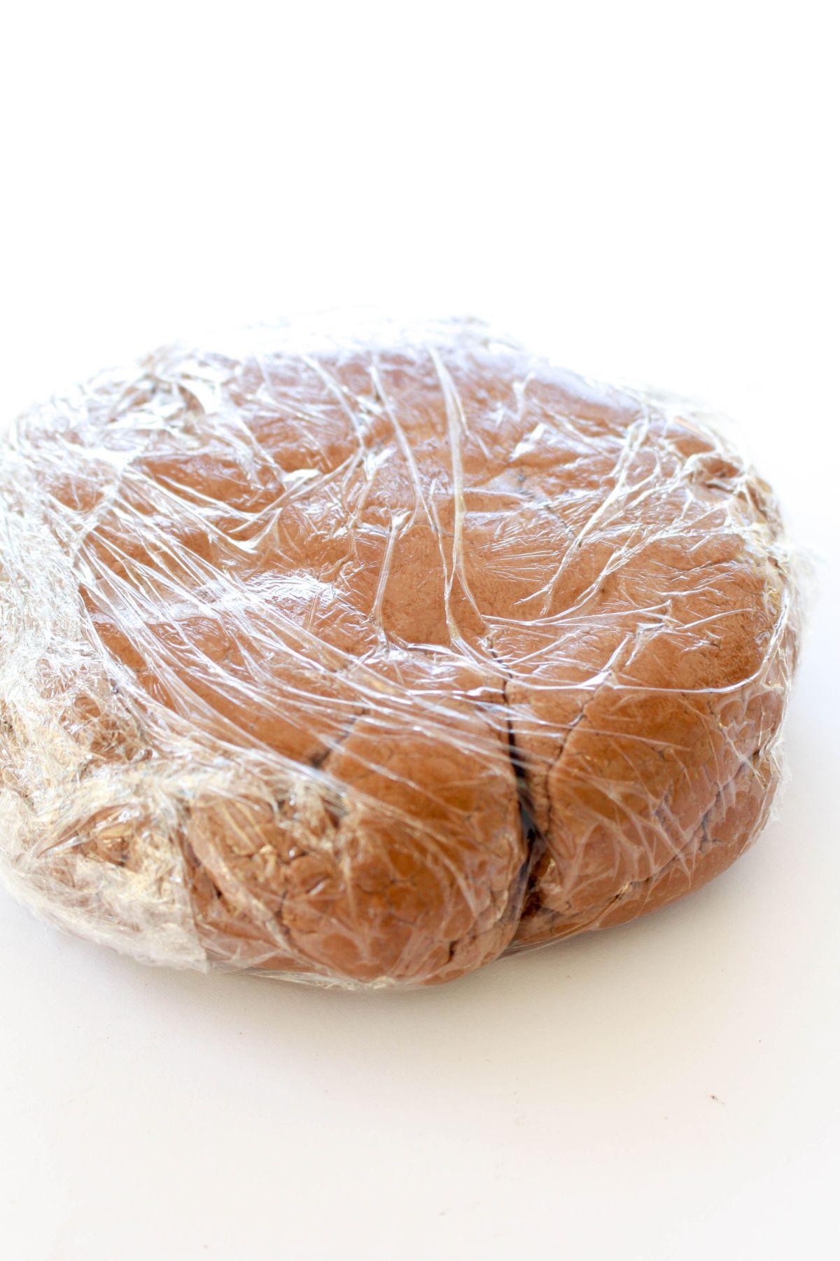 Fondant birthday cake plastic bag