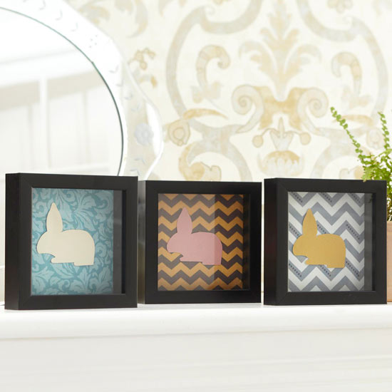 Framed paper bunnies