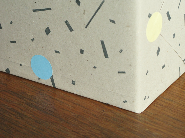 Geo print wrapping paper