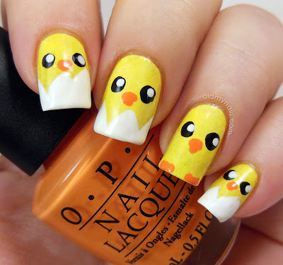 Hatching chick nails