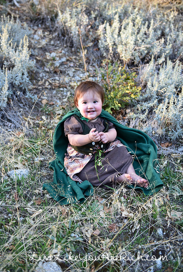 Hobbit baby girl diy costume