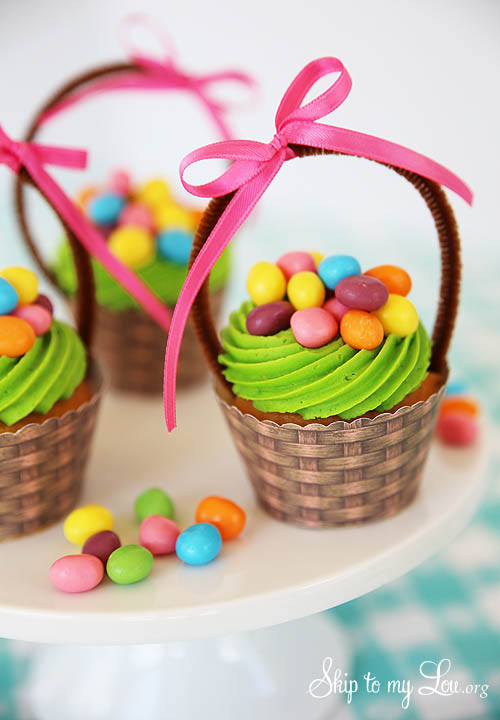 Jelly bean easter baskets