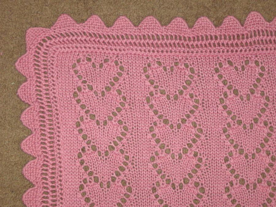 Knitted Valentine's blanket