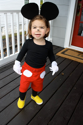 Mickey mouse diy costume