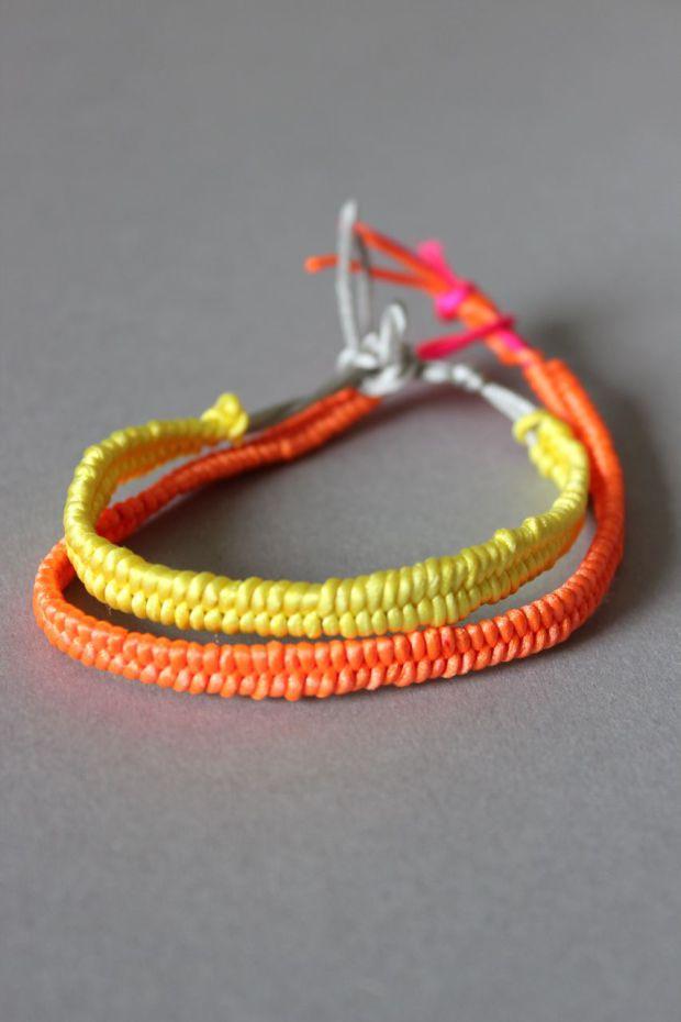 Neon diy bracelet