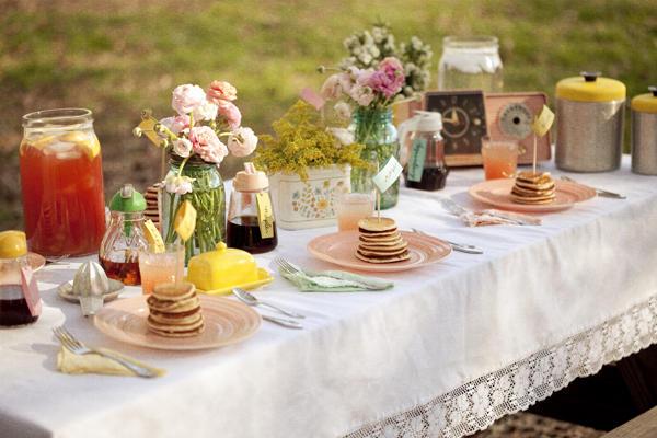 Pancake breakfast bridal shower theme