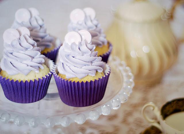 Parma violet cupcakes