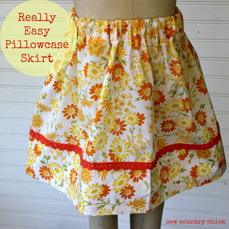 Pillowcase skirt diy