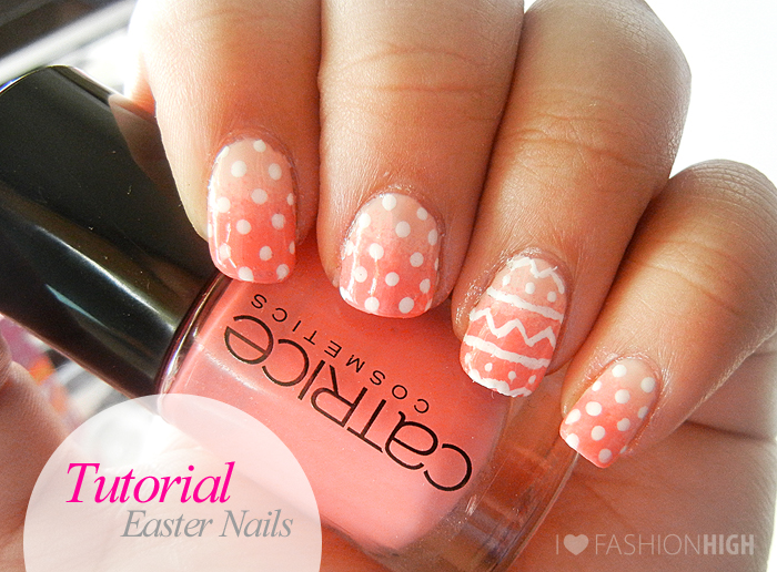 Polka dotted easter ombre