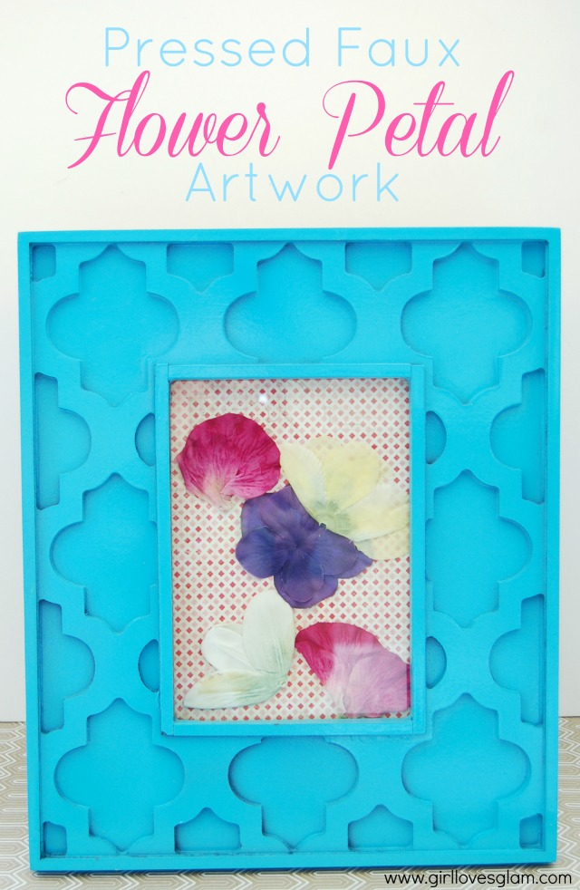Pressed faux flower art