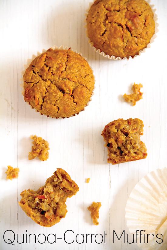 Quinoacarrot breakfast muffins