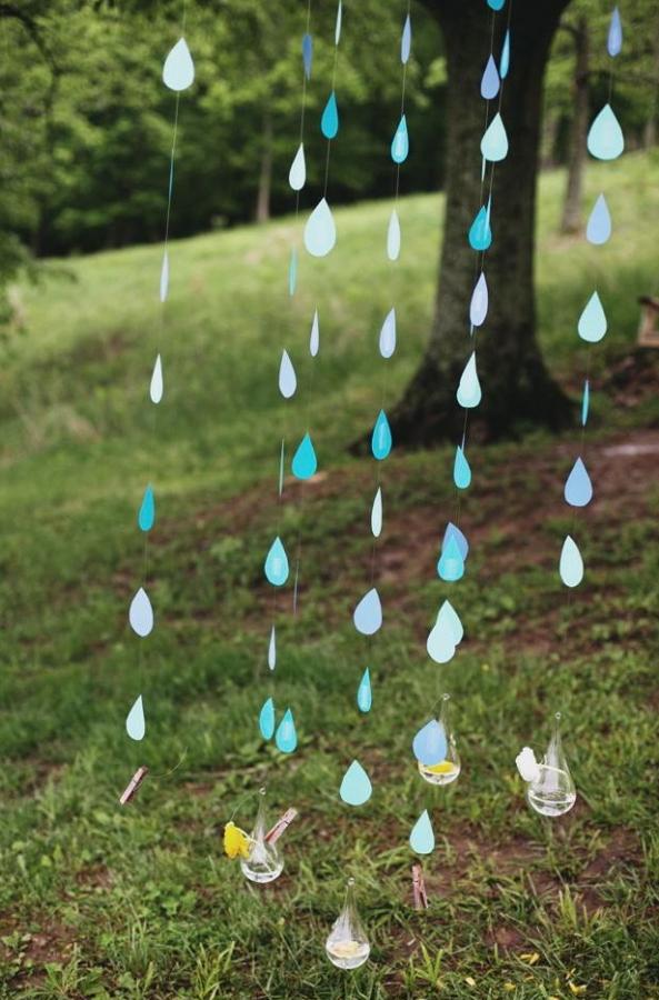 Rainy day bridal shower theme