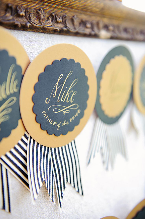 Rehearsahl dinner name tags diy