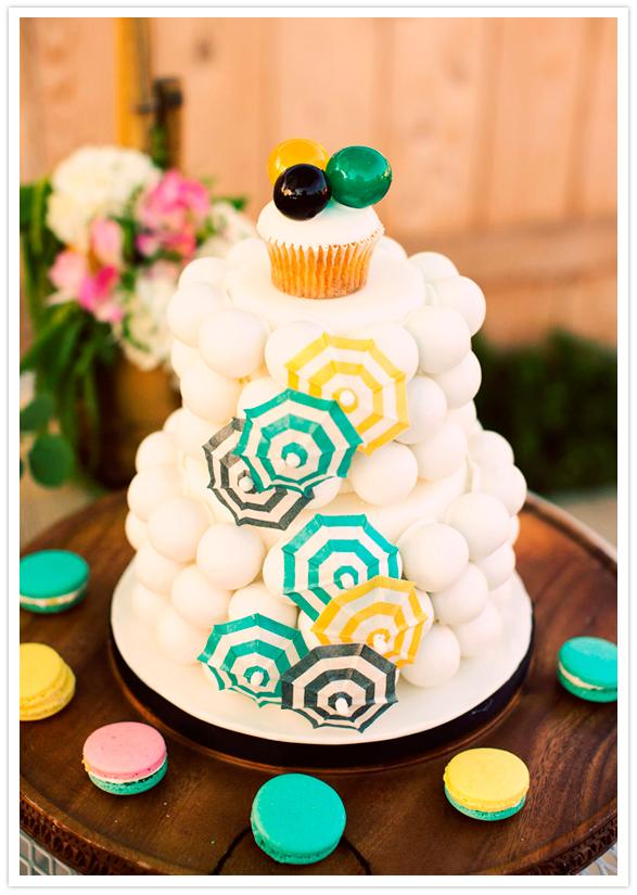 Retro tiki party bridal shower