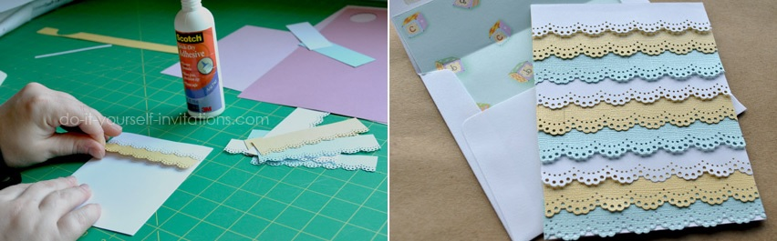 Ruffle baby invitation