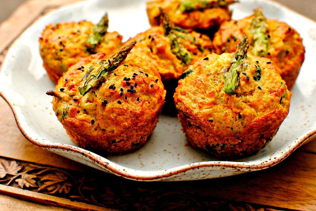 Spring veg breakfast muffins
