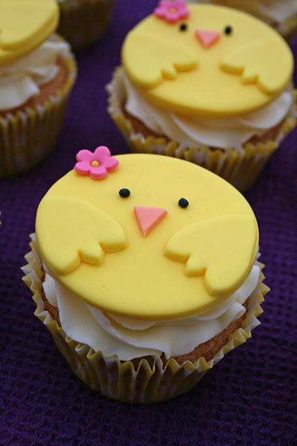 Spring chick cupcake toppers