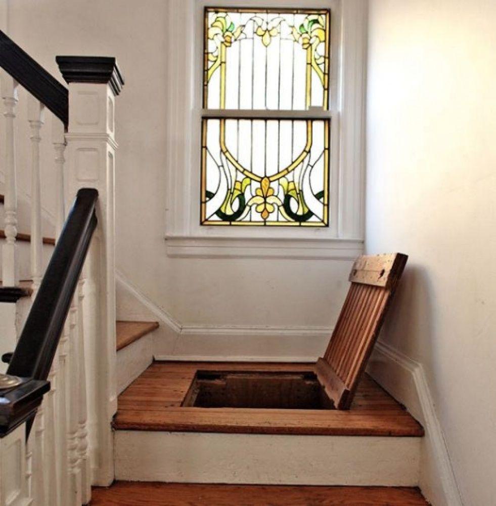 Stairs trap door