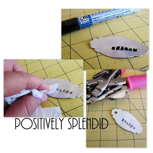 Stamped metal tags diy