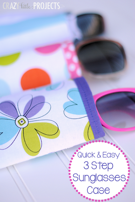 Sunglasses case diy sewing project