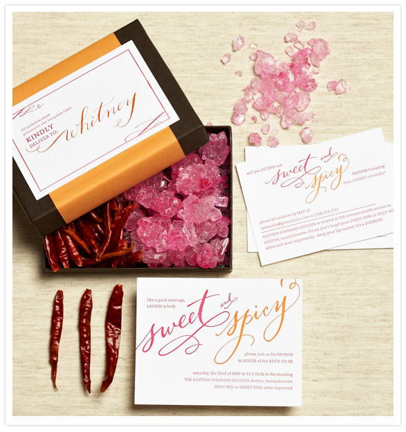 Sweet & spicy bridal shower theme