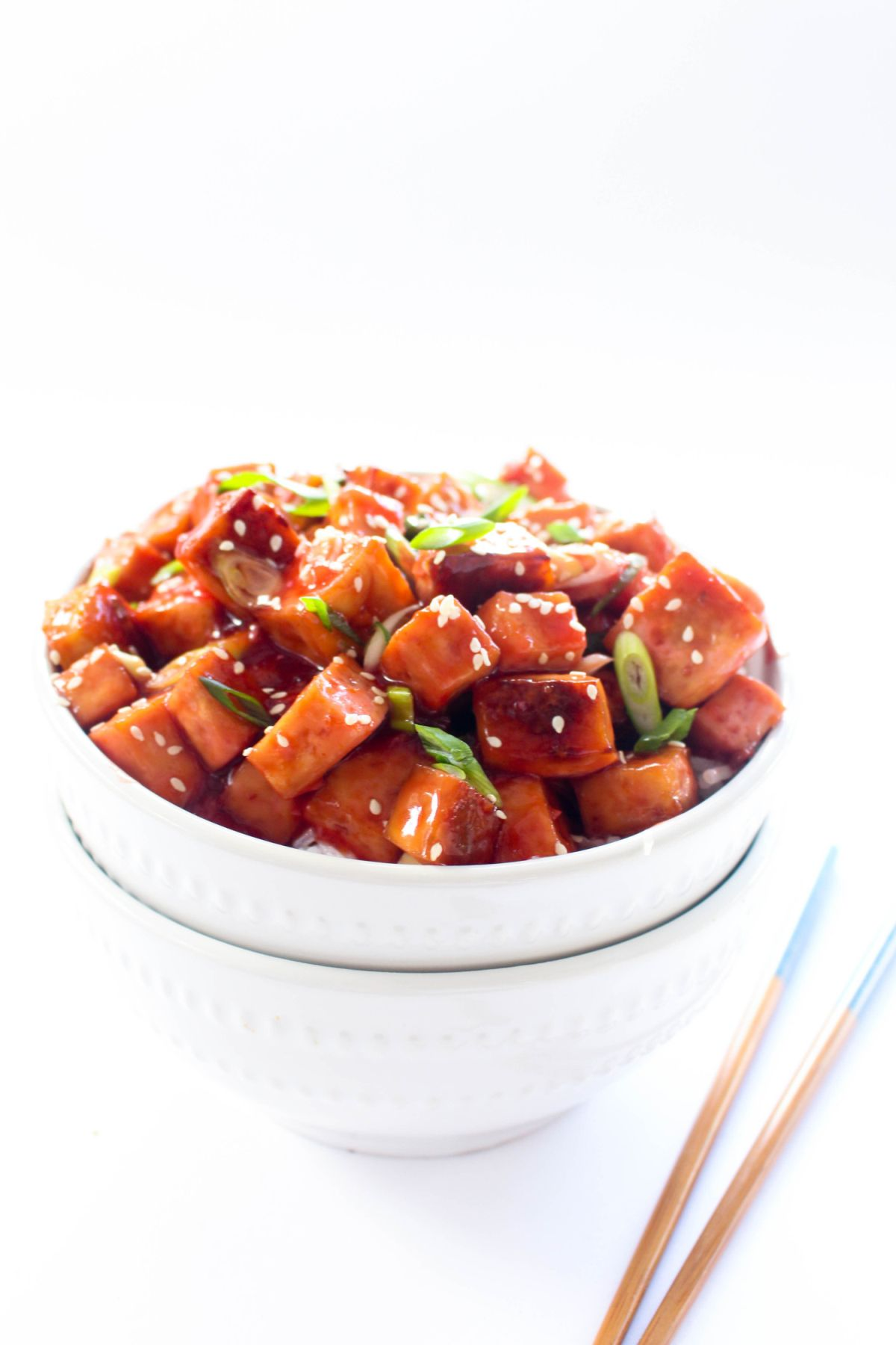 Tofu Rice Bowls with Sweet and Sour Blood Orange Sauce Recipe