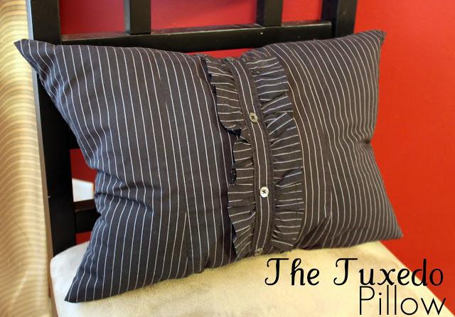 Tuxedo pillow