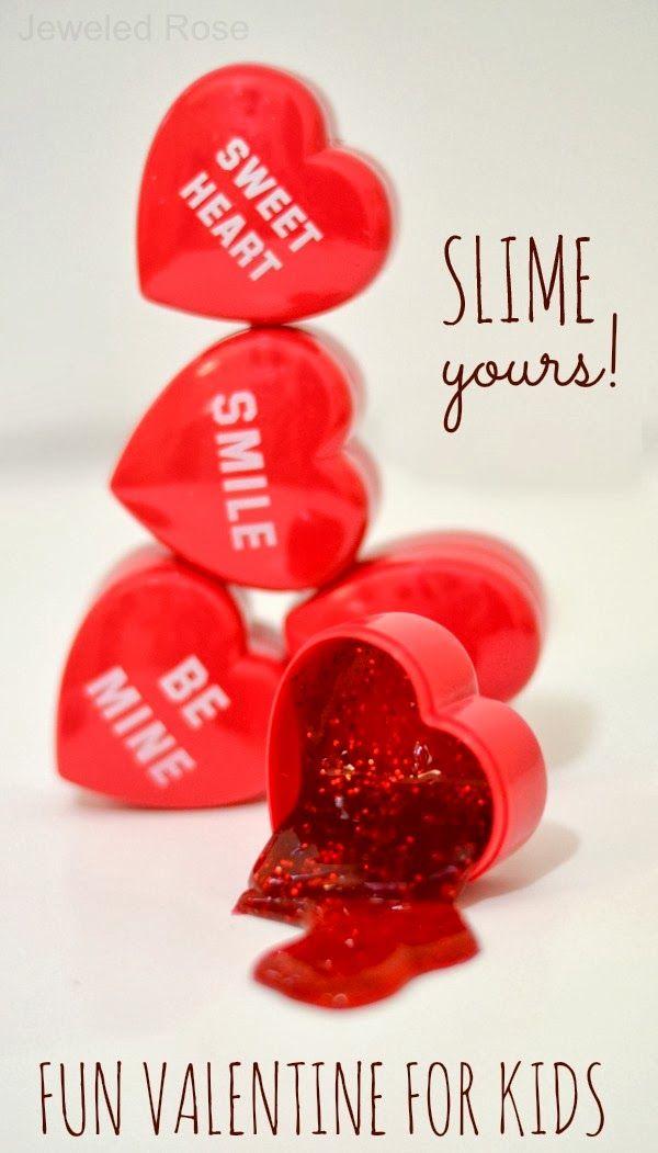 Valentine's glitter slime
